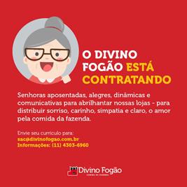 Anúncio publicado pela Divino Fogão nas suas redes sociais
