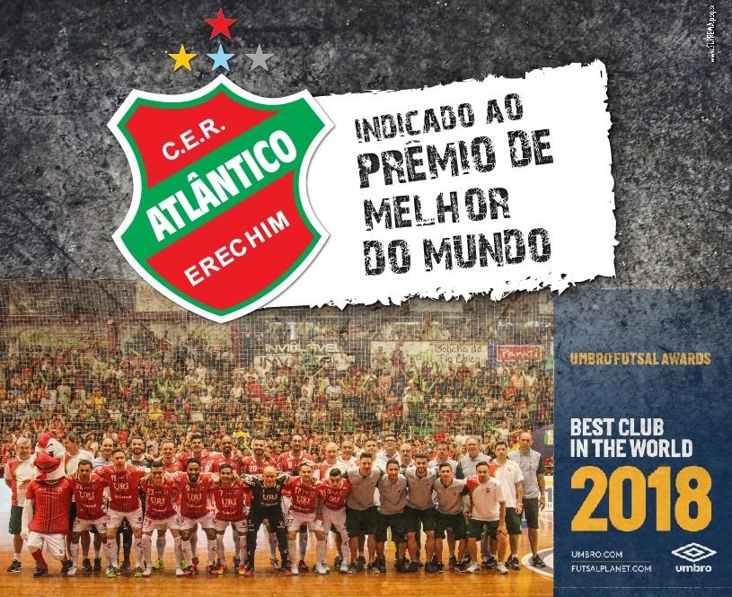 Atlântico concorre prêmio Melhor clube do mundo em 2018