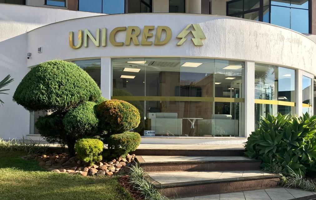 Fachada da Unicred Erechim Santa Mônica, inaugura em 6 de dezembro Crédito: Divulgação Unicred