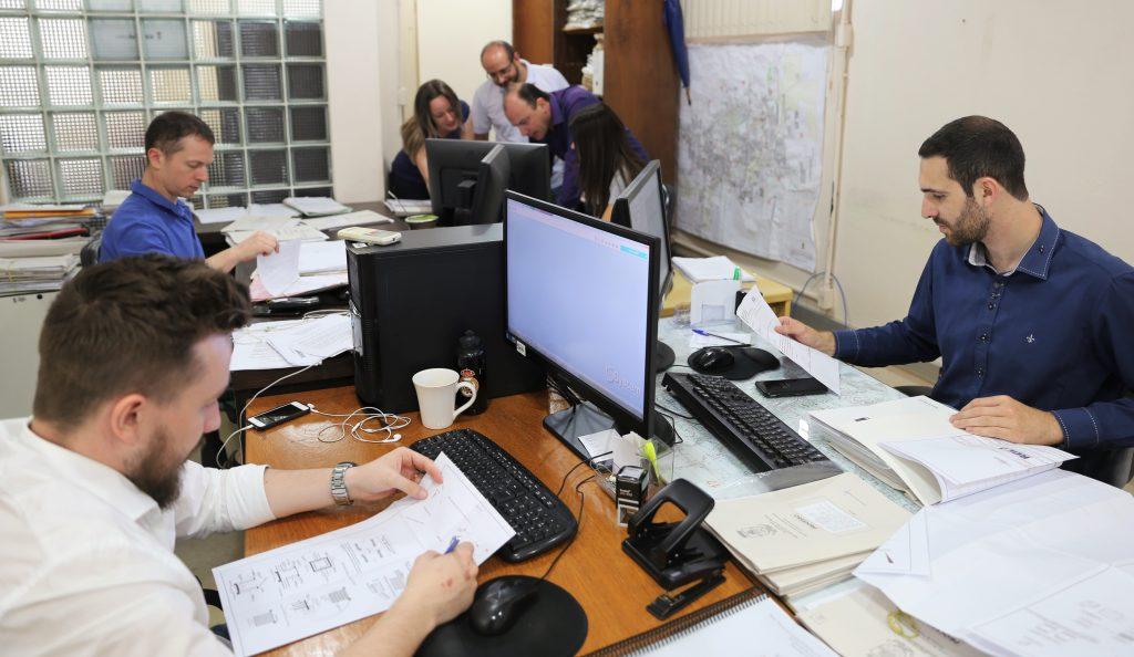 Setor de Análise e Aprovação da Secretaria Municipal de Obras e Habitação   Crédito: Prefitura de Erechim/Ascom