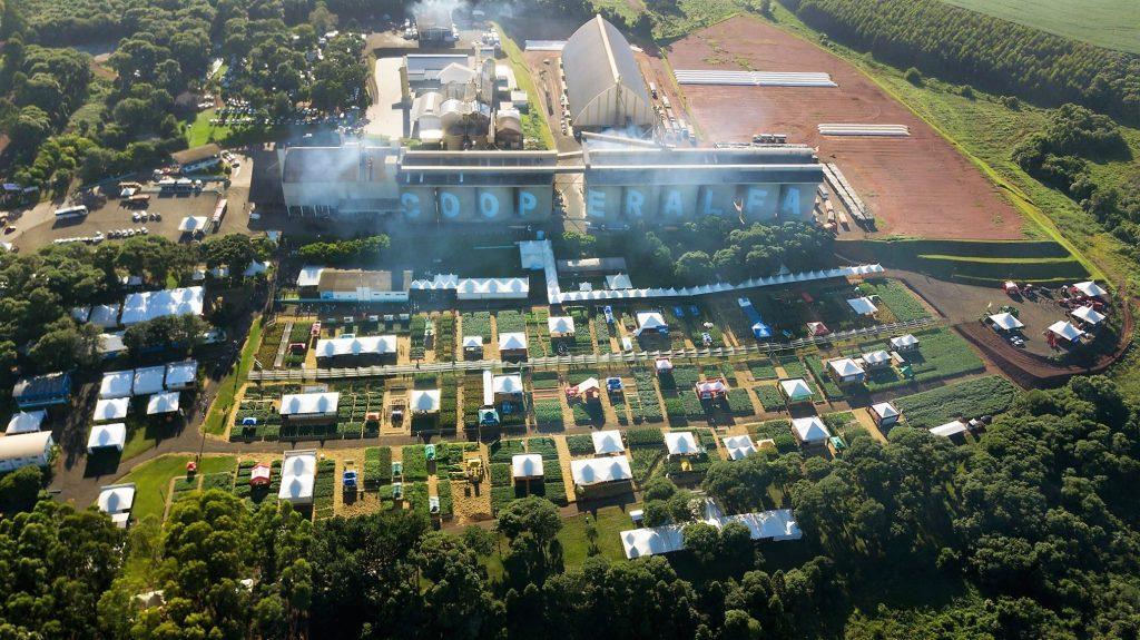 Foto aérea do 23º CDA, em Chapecó (SC) | Crédito: Cooperalfa/Imprensa