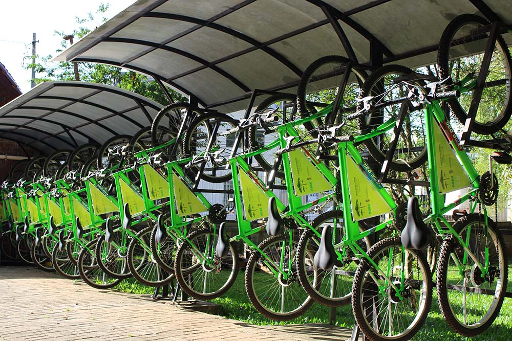 Bicicletário do Parque Longines Malinowski - Crédito: Prefeitura de Erechim/Ascom