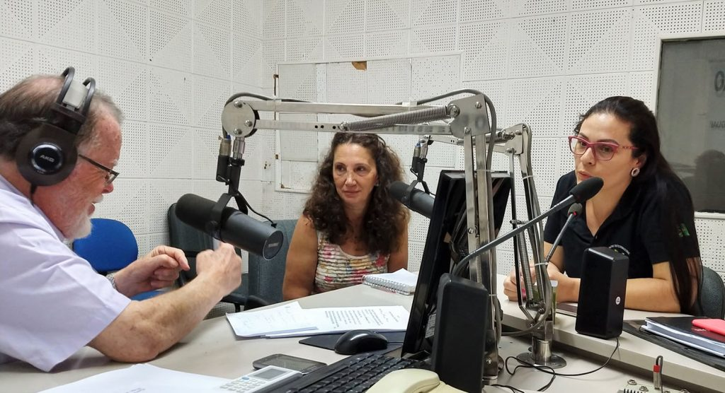 Francisco Basso Dias entrevistou as primas Rosicler e Elisângela Fiorentin, organizadoras do encontro da Família Fiorentin
