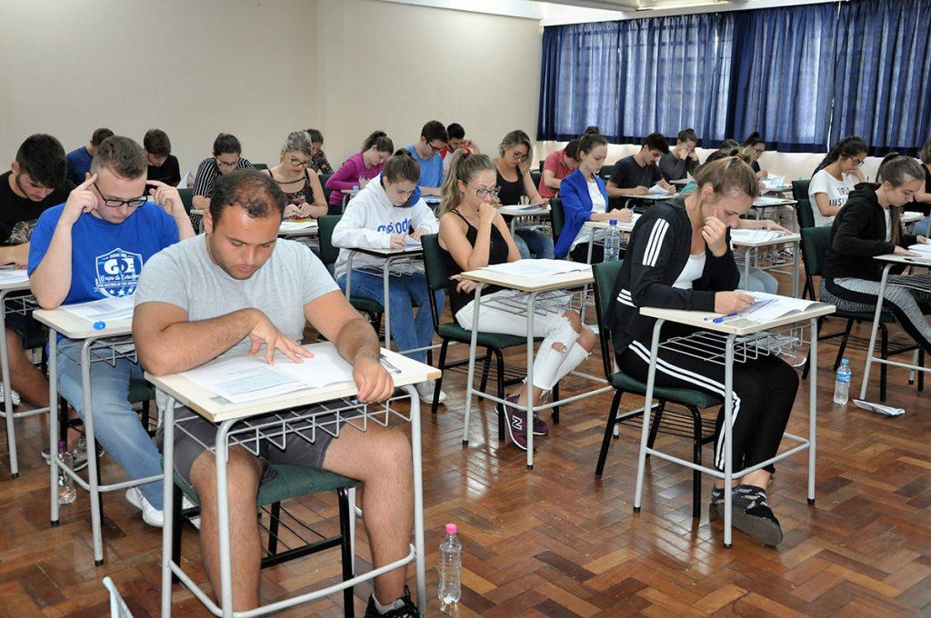 Prova de redação do vestibular de Medicina foi realizada dia 20 de janeiro | Crédito: URI Erechim/Imprensa