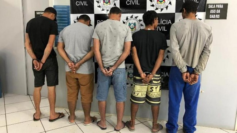 Deflagrada em Erechim, operação Cravo prende cinco indivíduos Crédito: Polícia Civil