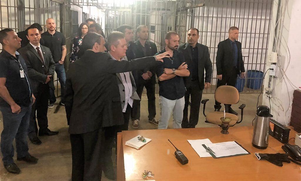 As visitas foram a duas penitenciárias de Charquedas (RS) Crédito: Susepe/Imprensa