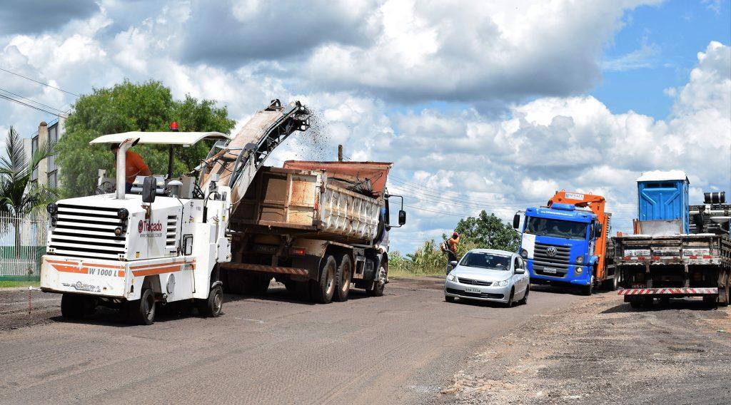 Avenida Caldas Júnior está em obras | Fotos: Prefeitura de Erechim/Secom