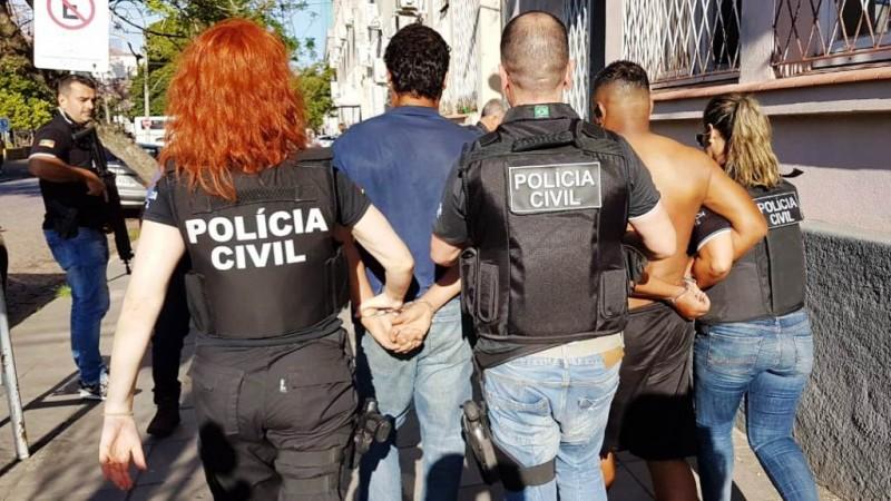 Polícia Civil realizou operação 'Flores de Aço' em 25 cidades do RS para combater a violência contra a mulher Foto: Polícia Civil/Imprensa