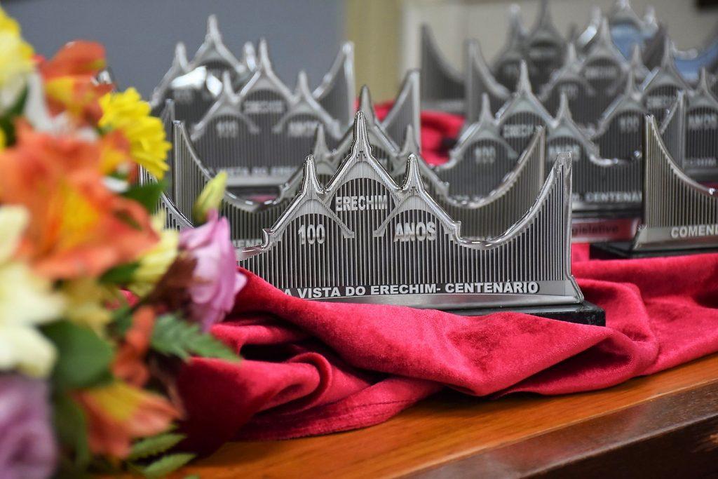 Troféu da Comenda Boa Vista do Erechim | Foto: Giulianno Olivar/CME
