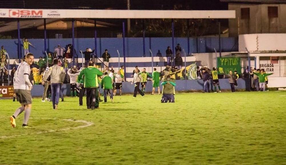 Com a vitória contra o Glória, Canarinho conquistou o acesso ao Gauchão 2020   |  Foto: Lenita Maraschin/Glória