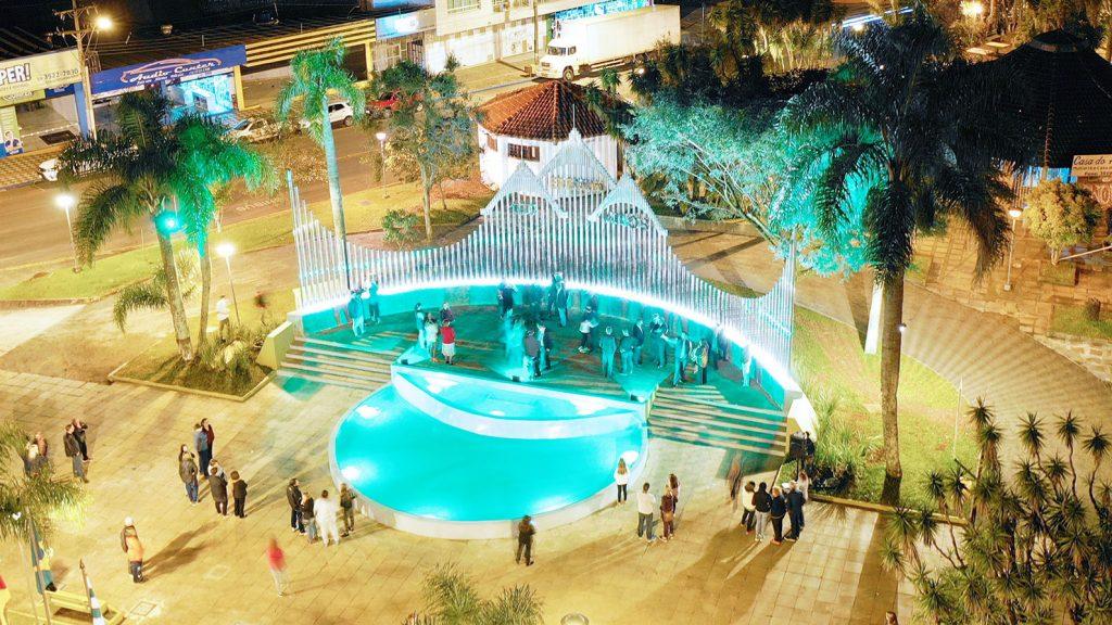 Monumento '100 anos de Erechim' foi inaugurado no dia 1º de maio | Foto: Prefeitura de Erechim/Secom