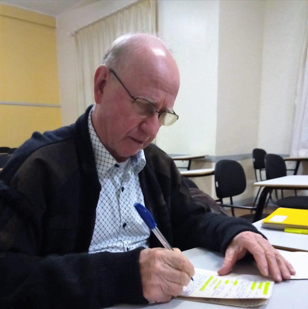 Jandir Chaparini, 73 anos, calouro do curso de Direito na Universidade Anhanguera de Erechim | Foto: Anhanguera/Imprensa