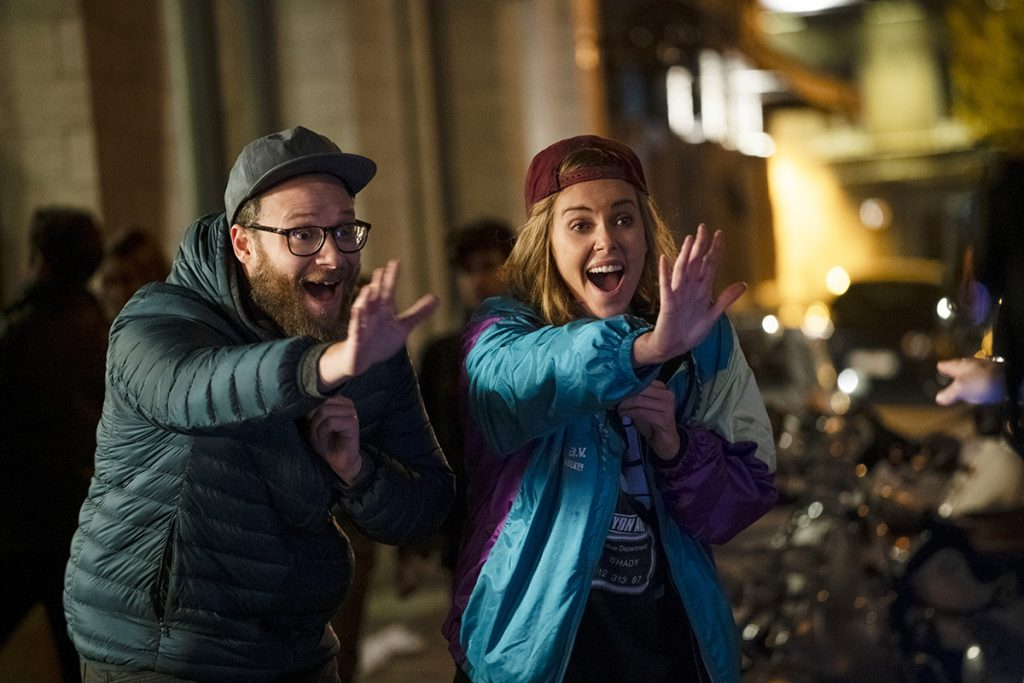 Fred Flarsky (SETH ROGEN) and Charlotte Fields (CHARLIZE THERON) in LONG SHOT. Photo Credit: Pillipe Bossé.