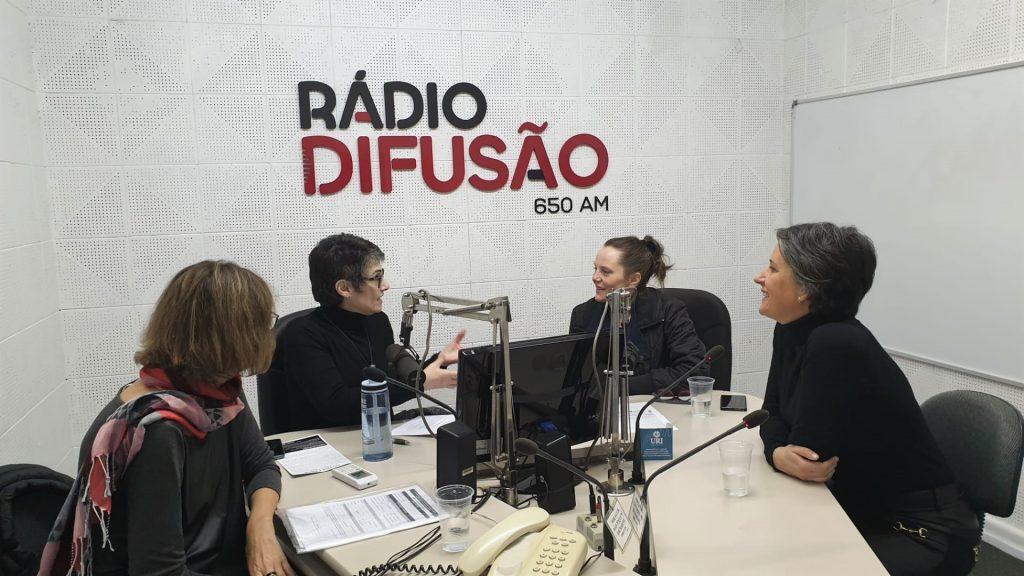 A partir da esquerda, Elisa Iop, Dóris Fialcoff, Val Schneider e Garielle Menegati Girardello   Foto: Betina Menegati Girardello