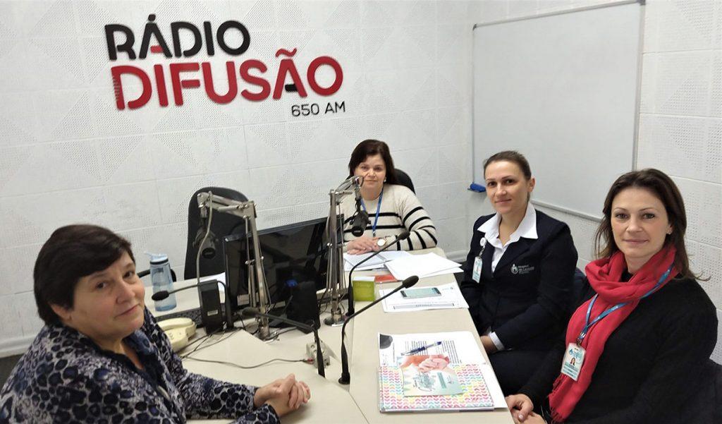 A partir da Esquerda, Marilei Jorosczinski, Miriam Ceconello, Liliane Rodrigues e Carina Balvedi Leandro
