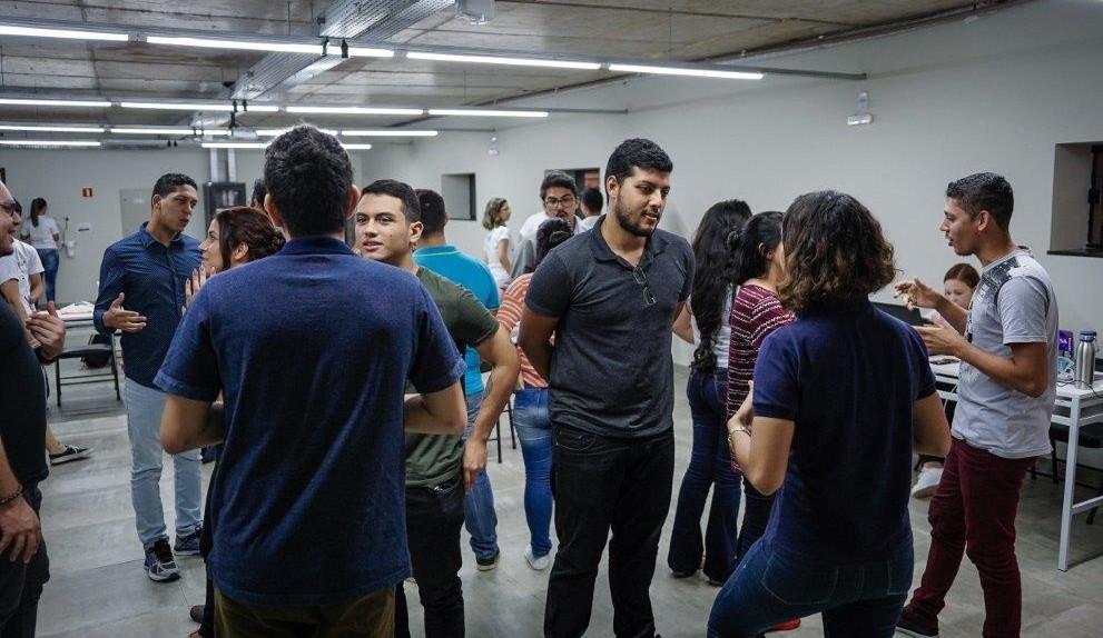 Grupo de jovens participantes de uma das edições do Conexão Sicoob   Fotos: Conexão Sicoob/Divulgação