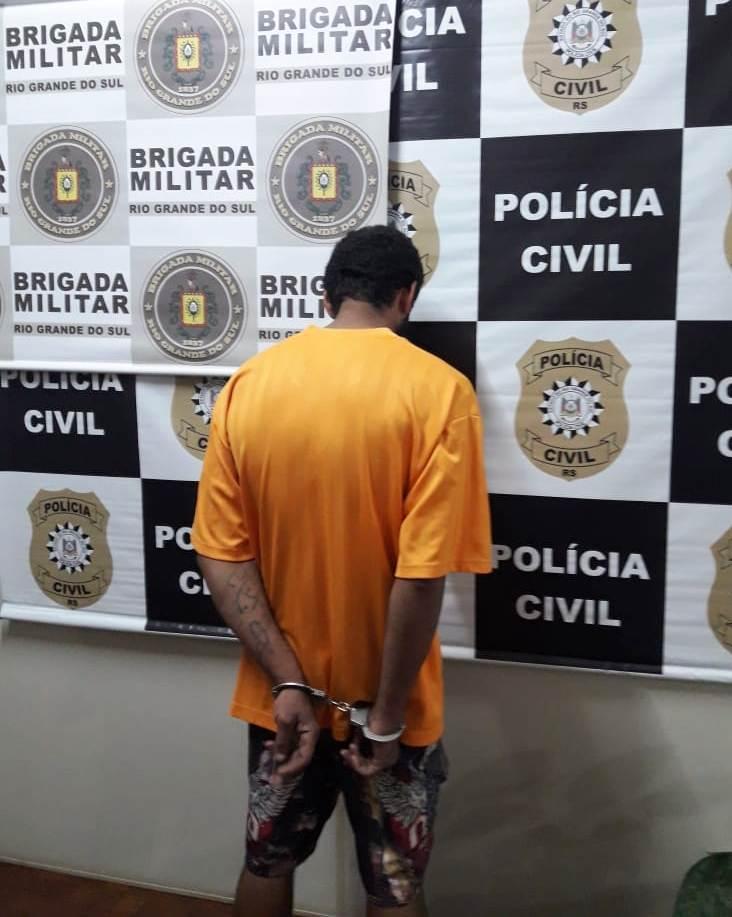Preso autor do homicídio cometido na madrugada de 30 de outubro, no bairro Progresso, em Erechim   Foto: 11ª DPRI