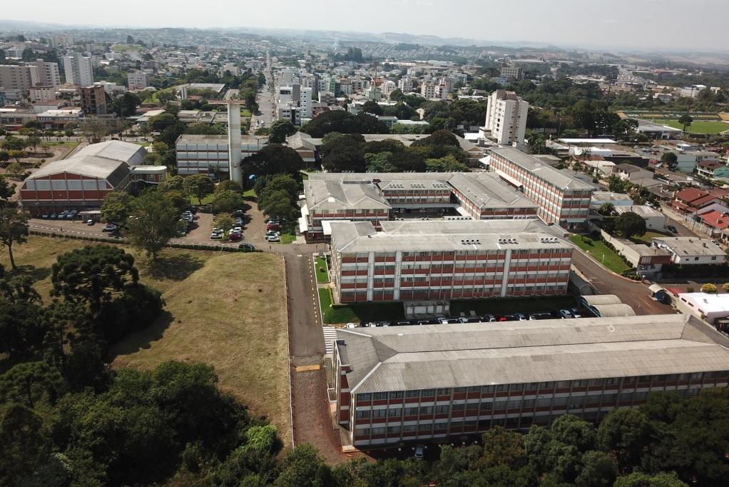 Vista aérea da URI campus Erechim | Foto: URI Erechim/Comunicação
