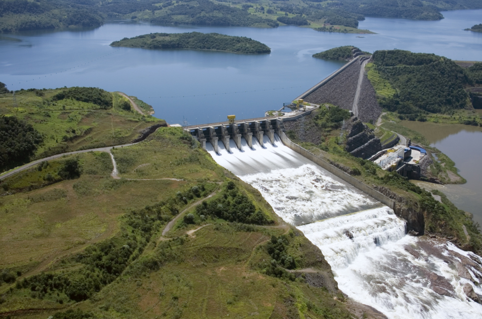 Vista do vertedouro da Usina Hidrelétrica Machadinho   |  Foto: Usina Machadinho/Divulgação