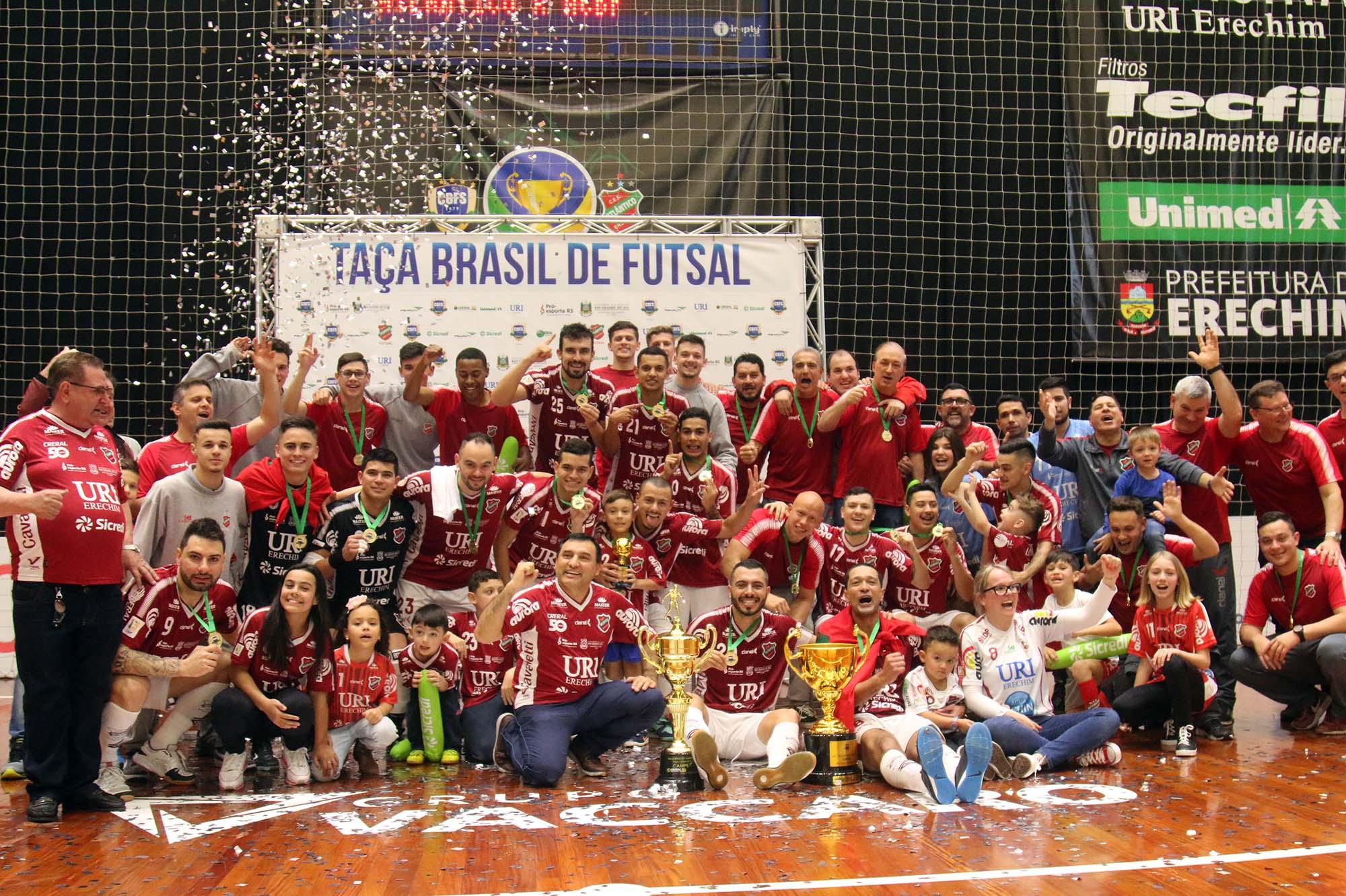 Atlântico é o atual campeão da Taça Brasil de Futsal | Foto: Atlântico Futsal/Divulgação