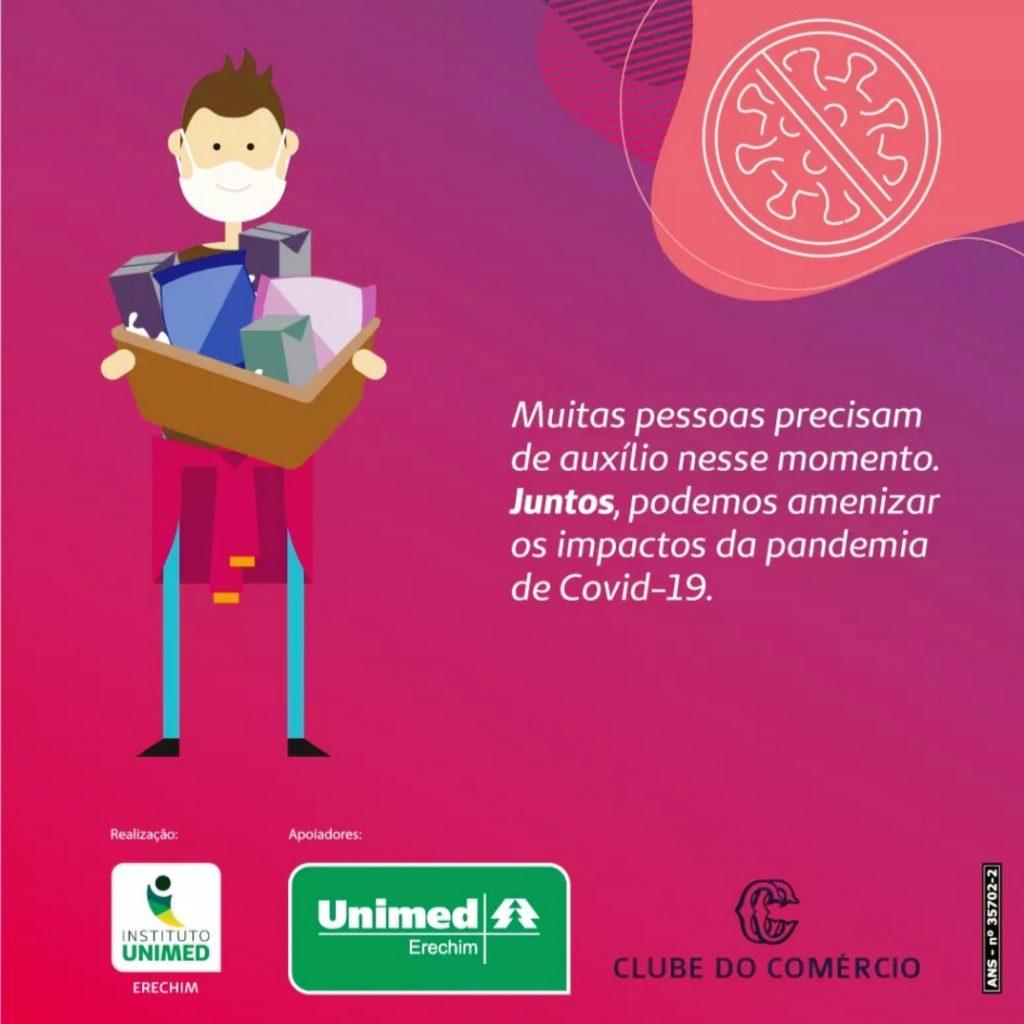Campanha de entidades para amenizar impactos da Covid-19