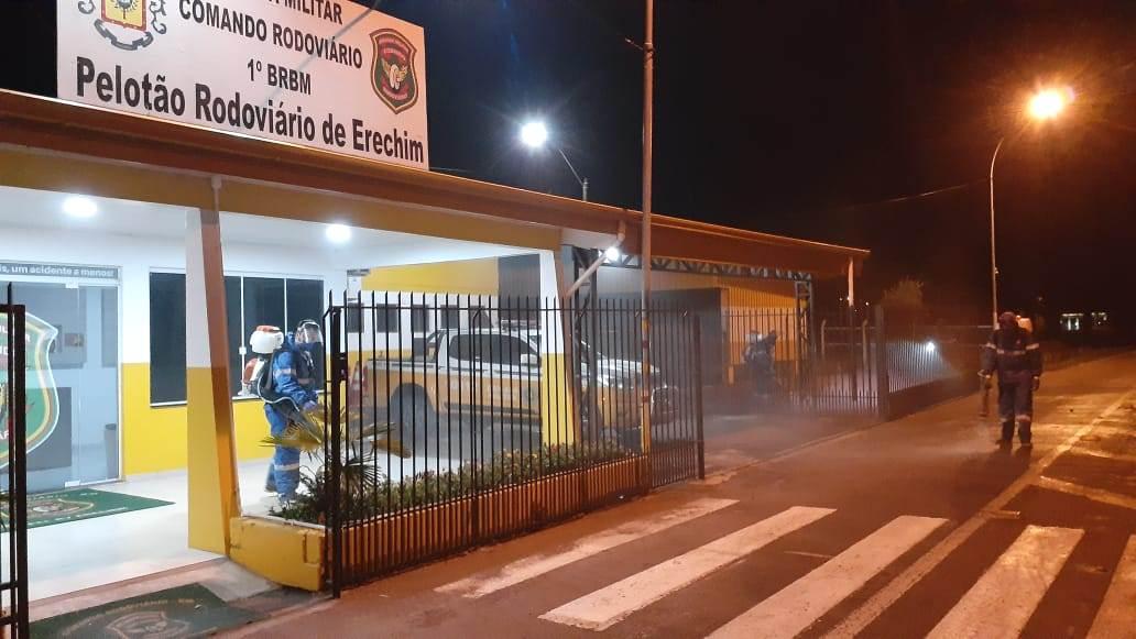 Desinfecção Pelotão Rodoviário