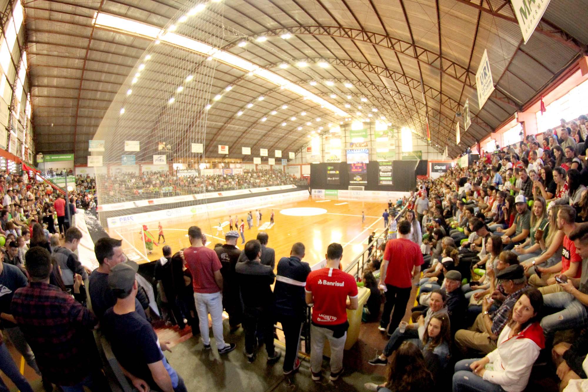 Registro do público no Caldeirão do Galo, antes da pandemia      Foto: Atlântico futsal