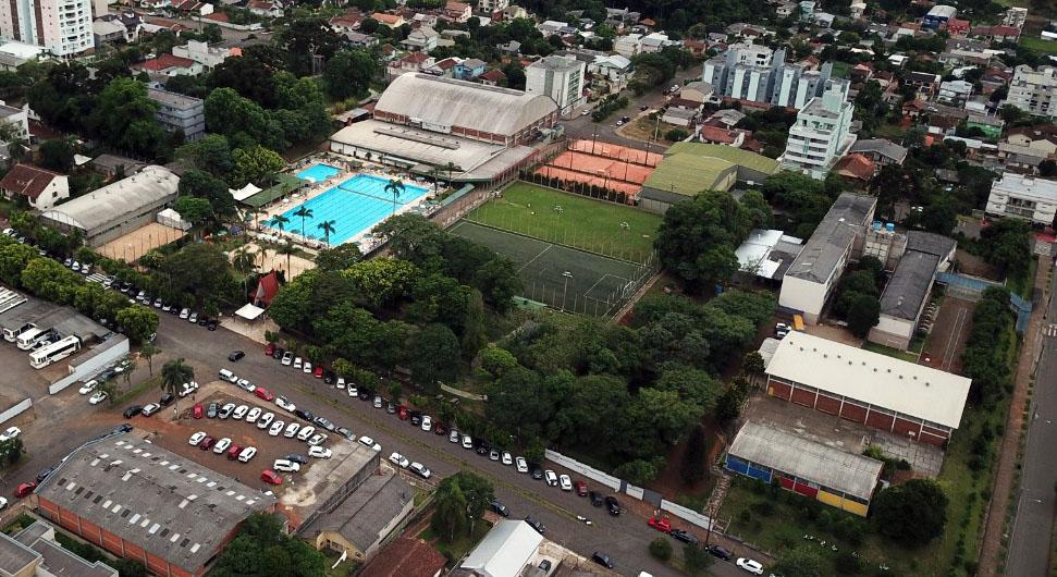 Vista aérea da sede esportiva  |  Foto: CER Atlântico
