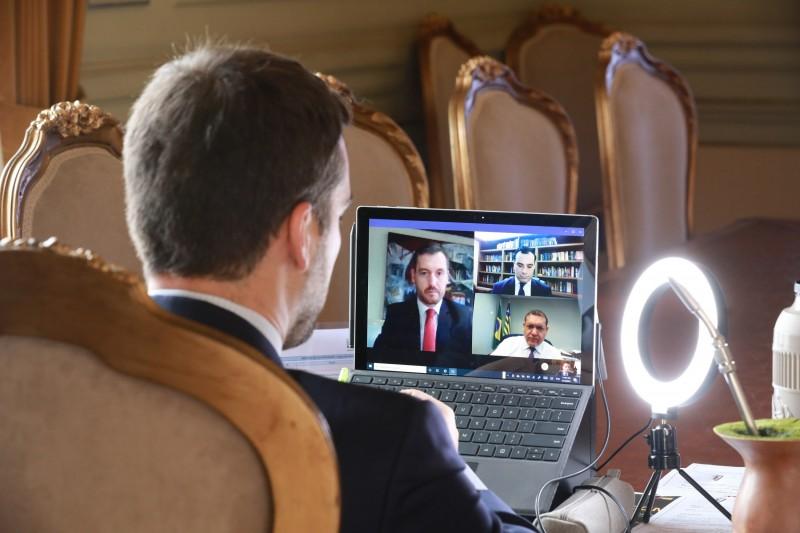 Leite, Dallazen e Costa conversaram por videoconferência com o ministro Nunes Marques